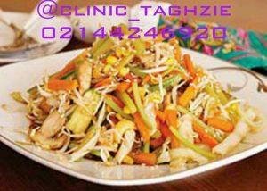 مرغ و سبزیجات | پخت غذای رژیمی
